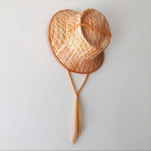60's Orange Straw Hat